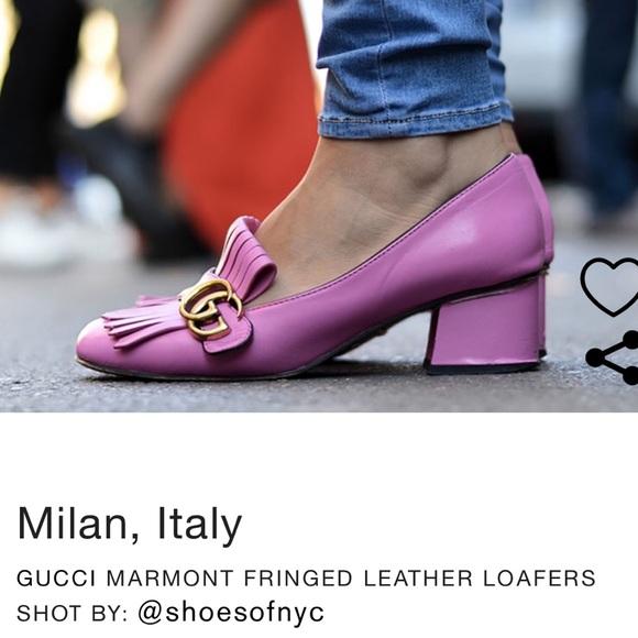 b2879a139 Gucci Shoes | Marmont Mid Heel Pump | Poshmark